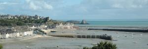 Vue du port de Cancale